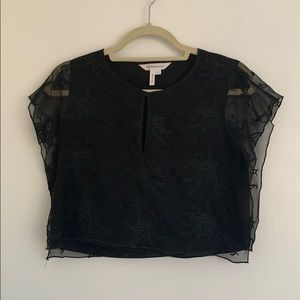 BCBGeneration Cropped Embroidered Top